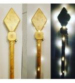 STAFF OF SANTA CLAUS GOLD 2 PARTS