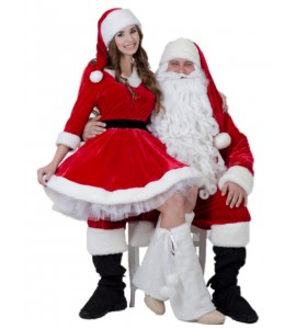 SANTA CLOUS FULL SET AND MRS. CLAUS