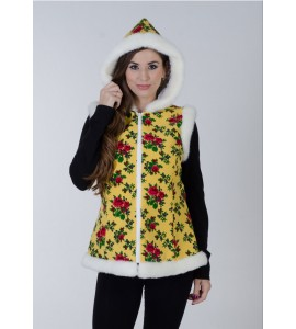 CHRISTMAS VEST YELLOW LONG